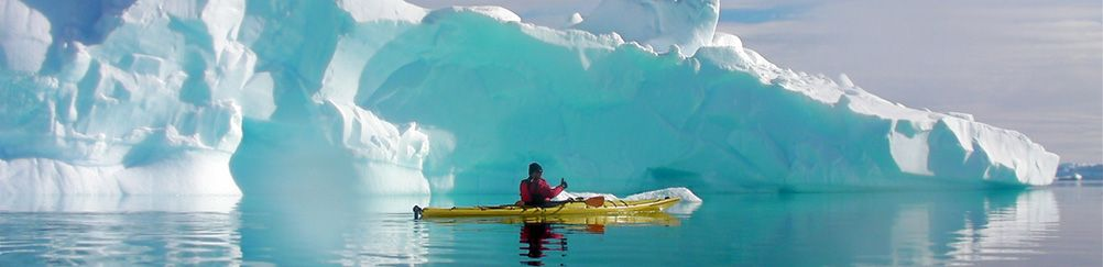 Antarctique, kayak
